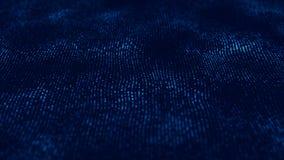 Wave 3d Wave delle particelle Fondo geometrico blu astratto Grande visualizzazione di dati Estratto di tecnologia di dati futuris illustrazione di stock