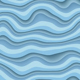 Wave 3D seamless texture. 3d illustration Royalty Free Stock Photography