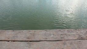 Wave del fondo commovente di superficie dell'acqua archivi video