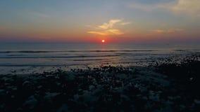 Wave del sol levante I video d archivio