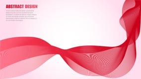 Wave delle linee colorate illustrazione di stock