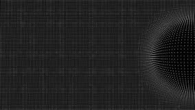 Wave delle particelle Fondo di vettore di Technlogy Particella di Big Data Illustrazione di vettore illustrazione di stock