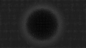Wave delle particelle Fondo di vettore di Technlogy Particella di Big Data Illustrazione di vettore illustrazione vettoriale