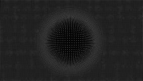 Wave delle particelle Fondo di vettore di Technlogy Particella di Big Data Illustrazione di vettore royalty illustrazione gratis