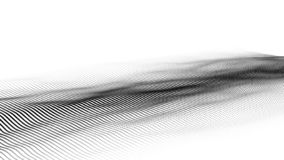 Wave delle particelle Onda futuristica del punto Illustrazione di vettore Fondo astratto con un'onda dinamica Wave 3d fotografie stock libere da diritti