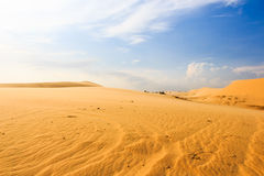 Wave on desert at Mui Ne, South Vietnam Royalty Free Stock Images