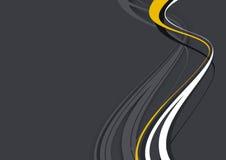 Wave design on dark background stock illustration