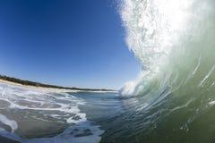 Wave di lancio Immagine Stock