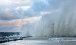 Wave di schianto - Nova Scota Immagine Stock