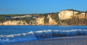Wave durante l'alta marea Fotografia Stock