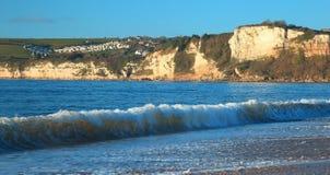 Wave durante l'alta marea Fotografie Stock