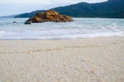 Wave e spiaggia Fotografia Stock Libera da Diritti