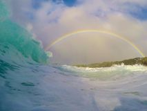 Wave ed arcobaleno Immagini Stock Libere da Diritti