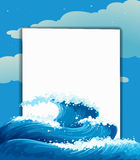 The wave and an empty sheet Royalty Free Stock Image