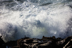 Wave Energy on the Rugged California Coastline Stock Photos