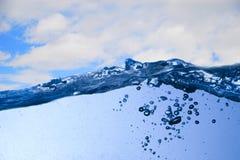 wave för bakgrundsskyvatten Royaltyfria Foton