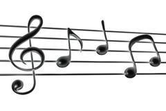 wave för klassisk musikanmärkningsvektor Arkivbilder
