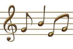 wave för klassisk musikanmärkningsvektor Arkivfoton