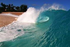 wave för strandkeikihav royaltyfria foton