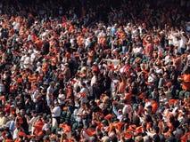 wave för trasor för jubelventilatorlek orange Arkivfoton