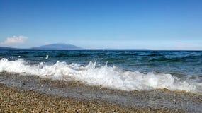 wave för tungt hav för kraschar Arkivfoto