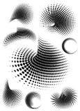 wave för vektor för abstrakt begreppprickar rastrerad retro Arkivbilder