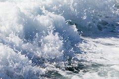 Wave of a ferry ship on the open ocean Stock Photos