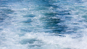Wave of a ferry ship on the open ocean Royalty Free Stock Photography