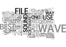 A Wave File Is A Wave File Word Cloud. A WAVE FILE IS A WAVE FILE TEXT WORD CLOUD CONCEPT Royalty Free Stock Images
