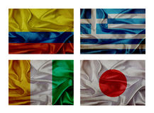 Wave flags for soccer championship 2014 Royalty Free Stock Photo