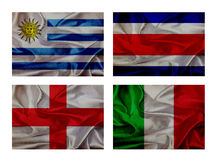 Wave flags for soccer championship 2014 Royalty Free Stock Photos