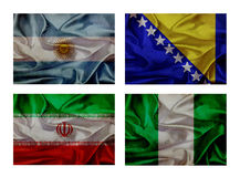 Wave flags for soccer championship 2014. Groups F stock illustration
