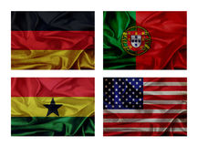 Wave flags for soccer championship 2014 Stock Image