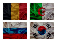 Wave flags for soccer championship 2014. Groups H vector illustration