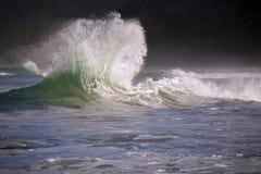 Wave flare. Breaking wave flaring up to make splash Stock Photo