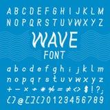 Wave Font Design,Vector Alphabet Stock Photo