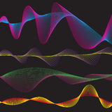 Wave form pattern Stock Images