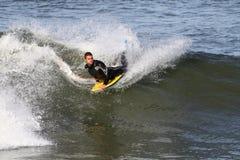 wave för boarderhuvuddelridning Arkivbild