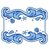 Wave frame. Water background with place for your text Royalty Free Stock Photo