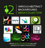 Wave and geometric backgrounds mega collection Stock Photos