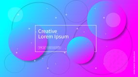 Wave and geometric color background design. Dynamic shapes composition with gradient color. Modern and futuristic design for cover vector illustration