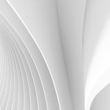 Wave Geometric Design. Abstract Architecture Background. White Circular Building. Futuristic Tech Concept. Wave Geometric Design. 3d Render Royalty Free Stock Photo