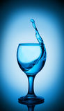 Wave in glass goblet Royalty Free Stock Photos