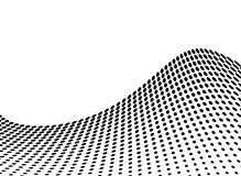 Wave glide. Wave abstract design in stark black and white with copy space Royalty Free Stock Photos