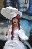 Wave gothic lady at Gothic-festival 2009 Royalty Free Stock Image