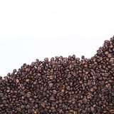 Wave of grain coffee. On a white background Royalty Free Stock Photos