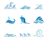 Wave Vector graphic ornament Royalty Free Stock Photo