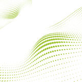Wave Green Dots Royalty Free Stock Photography