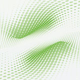 Wave green dots Stock Photography