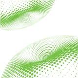 Wave green dots Stock Photos